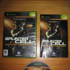 Videojuegos y Consolas: SPLINTER CELL: PANDORA TOMORROW • X-BOX • PAL (CASTELLANO Y COMPLETO). Lote 57779625