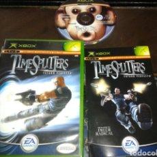 Videojuegos y Consolas: TIMESPLITTERS FUTURO PERFECTO,XBOX,PAL ESPAÑA. Lote 62201839