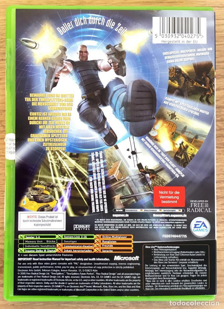 Videojuegos y Consolas: TIME SPLITTERS ( Future Perfect ) XBOX CLASICA (PAL) Juego XBOX Completo RARE¡ - Foto 2 - 107638987