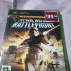 Videojuegos y Consolas: TAR WARS BATTLEFRONT XBOX COMPLETO PAL. Lote 110069375