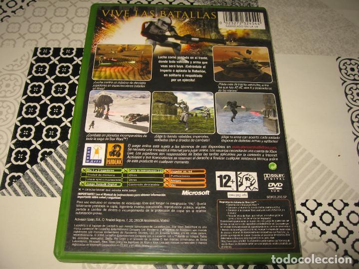 Videojuegos y Consolas: STAR WARS BATTLEFRONT XBOX PAL ESPAÑA COMPLETO - PANDEMIC LUCAS ARTS - Foto 2 - 110482939