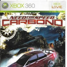 Videojuegos y Consolas: == JN44 - FOLLETO DEL JUEGO NEED FOR SPEED CARBONO - XBOX 360. Lote 120526519