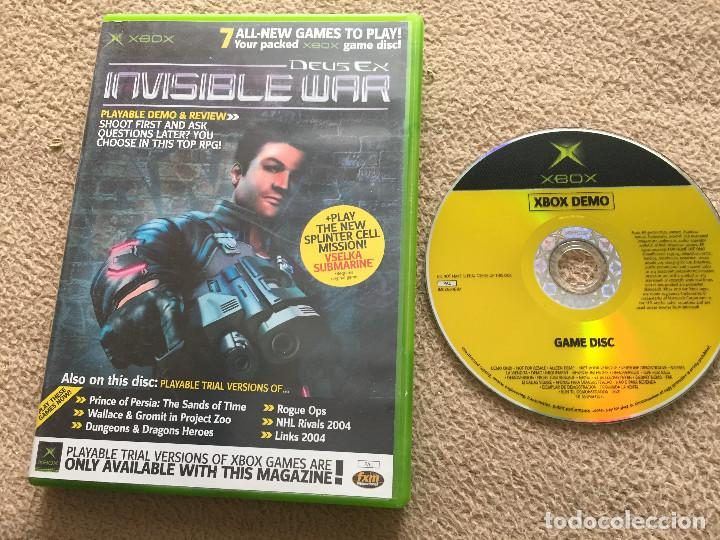 DEUS EX INVISIBLE WAR PLAYABLE DEMO & REVIEW + 7 DEMOS GAME DISC 26 GAMES  X-BOX MICROSOFT KREATEN