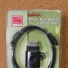 Videojuegos y Consolas: ADAPTADOR DE AUDIO Y CABLE ÓPTICO XBOX. Lote 137667786