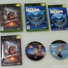 Videojuegos y Consolas: 2 JUEGOS XBOX, SPHINX Y LA MALDITA MOMIA DE EUROCOM Y BUSCANDO A NEMO, THQ PARA LA PRIMERA XBOX EN B. Lote 179055252