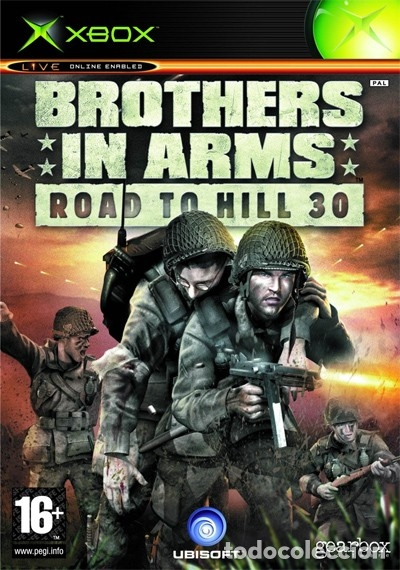 LOTE OFERTA JUEGO XBOX - BROTHERS IN ARMS - ROAD TO HILL 30 - MUY NUEVO Y CON MAPA Y MANUAL (Juguetes - Videojuegos y Consolas - Microsoft - Xbox)