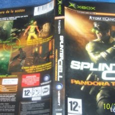 Videojuegos y Consolas: SPLINTER CELL: PANDORA TOMORROW • X-BOX • PAL (CASTELLANO Y COMPLETO). Lote 180138535