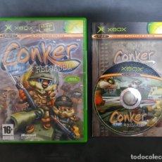 Videojuegos y Consolas: MICROSOFT XBOX - JUEGO CONKER LIVE & RELOADED PAL ESPAÑA COMPLETO RARO!!!!. Lote 182265891