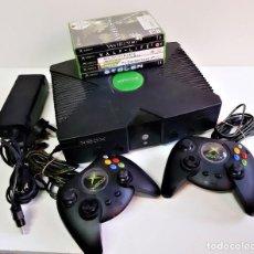 Videojuegos y Consolas: CONSOLA XBOX + 5 JUEGOS + DOS MANDOS Y CABLES CONECTORES. Lote 183710221