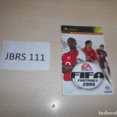 Videojuegos y Consolas: GUIAS - FIFA FOOTBALL 2005 - INSTRUCIONES PARA XBOX , EN CASTELLANO. Lote 193336465