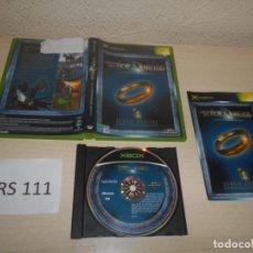 Videojuegos y Consolas: XBOX - EL SEÑOR DE LOS ANILLOS - LA COMUNIDAD DEL ANILLO , PAL ESPAÑOL , COMPLETO. Lote 206180207