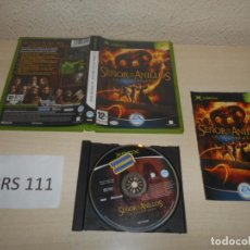 Videojuegos y Consolas: XBOX - EL SEÑOR DE LOS ANILLOS - LA TERCERA EDAD , PAL ESPAÑOL , COMPLETO. Lote 206180935