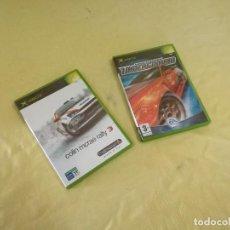 Videojogos e Consolas: LOTE DE 2 JUEGOS DE XBOX, COLIN MCRAE RALLY 3 Y NEED FOR SPEED UNDERGROUND, EN CAJAS ORIGINALES. Lote 209051150