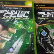 Videojogos e Consolas: SPLINTER CELL CHAOS THEORY - XBOX - PAL UK. Lote 210210707