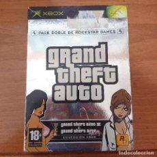Videojuegos y Consolas: GRAND THEFT AUTO PACK DOBLE DE ROCKSTAR GAMES ESPAÑOL COMPLETO. Lote 211434572