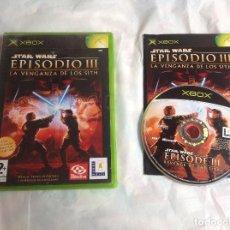 Videojuegos y Consolas: JUEGO STAR WARS EPISODIO. III XBOX COMPLETO. Lote 218610020