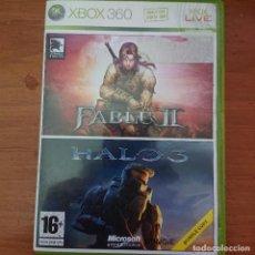 Videojuegos y Consolas: FABLE II / HALO 3 XBOX COMPLETO ESPAÑOL. Lote 230763420