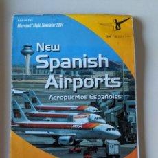 Videojuegos y Consolas: MICROSOFT FLIGTH SIMULATOR 2004 - NEW SPANISH AIRPORTS CHARTS - AEROSOFT. Lote 233223190