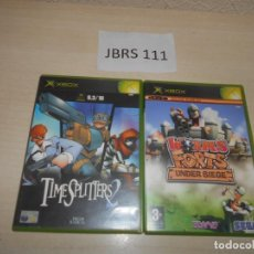 Videojuegos y Consolas: TIME SPLITTERS 2 + WORMS FORTS UNDER SIEGE. Lote 234575380