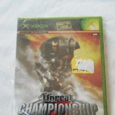 Videojuegos y Consolas: UNREAL CHAMPIONSHIP - ATARI - MICROSOFT XBOX - PAL ESPAÑA - NUEVO Y PRECINTADO. Lote 236208290