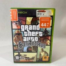 Videojuegos y Consolas: VIDEOJUEGO XBOX - GRAND THEFT AUTO SAN ANDREAS + CAJA. Lote 237257255