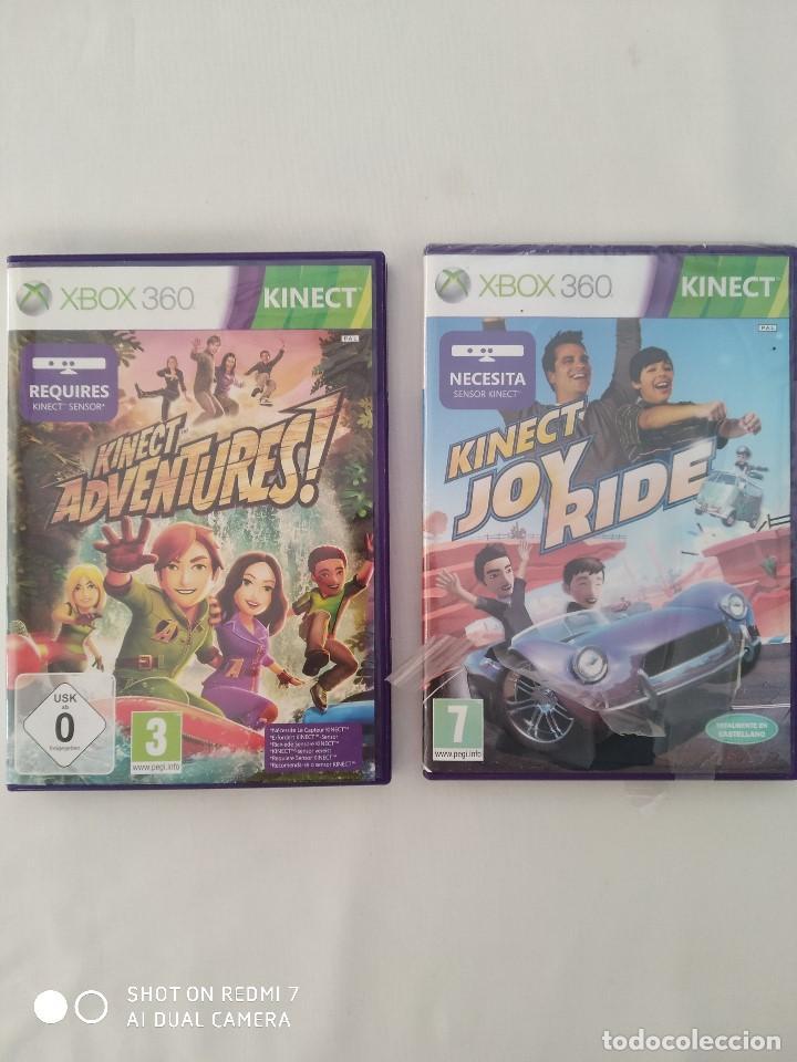 JUEGOS XBOX 360 KINECT,JOY RIDE(PRECINTADO) Y KINECT ADVENTURES,COMO NUEVO (Juguetes - Videojuegos y Consolas - Microsoft - Xbox)