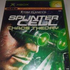 Videojuegos y Consolas: TOM CLANCY'S SPLINTER CELL CHAOS THEORY - XBOX. Lote 256051525