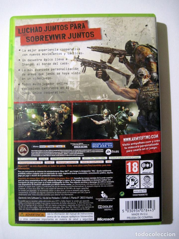 Videojuegos y Consolas: ARMY OF TWO • X-Box 360 (PAL) - Foto 2 - 262649165