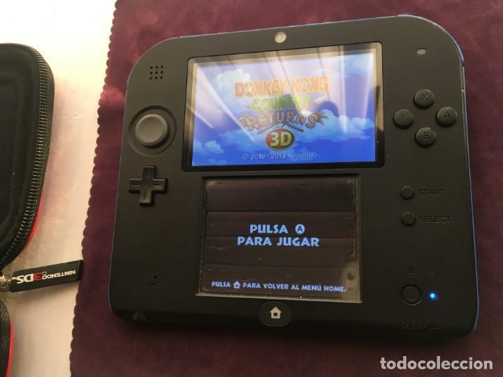 Videojuegos y Consolas Nintendo 2DS: NINTENDO 2DS AZUL NEGRA NEGRO CON SUPER MARIO PREINSTALADO LAPIZ CARGADOR MEMORIA KREATEN - Foto 4 - 193052503