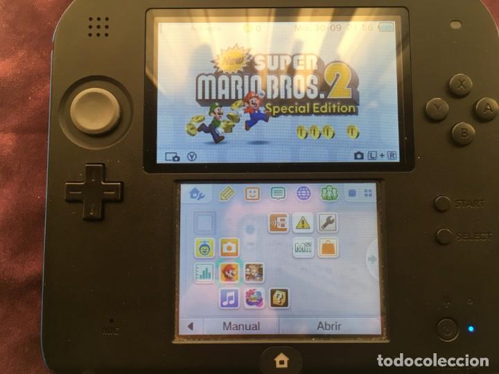 Videojuegos y Consolas Nintendo 2DS: NINTENDO 2DS AZUL NEGRA NEGRO CON SUPER MARIO PREINSTALADO LAPIZ CARGADOR MEMORIA KREATEN - Foto 5 - 193052503