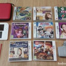 Videojuegos y Consolas Nintendo 2DS: PACK LOTE CONSOLA 2DS FUNDA CARGADOR Y 8 JUEGOS NINTENDO 2DS 3DS. Lote 194249158