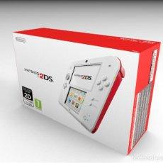 Videojuegos y Consolas Nintendo 2DS: CAJA NINTENDO 2DS BLANCO Y ROJO REPRODUCCIÓN (NO INCLUYE LA CONSOLA). Lote 204708077