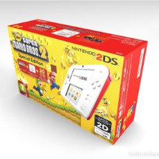 Videojuegos y Consolas Nintendo 2DS: CAJA NINTENDO 2DS SUPER MARIO SE BLANCO Y ROJO REPRODUCCIÓN (NO INCLUYE LA CONSOLA). Lote 204708485