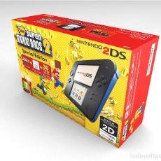 Videojuegos y Consolas Nintendo 2DS: CAJA NINTENDO 2DS SUPER MARIO SE NEGRO Y AZUL REPRODUCCIÓN (NO INCLUYE LA CONSOLA). Lote 204708665