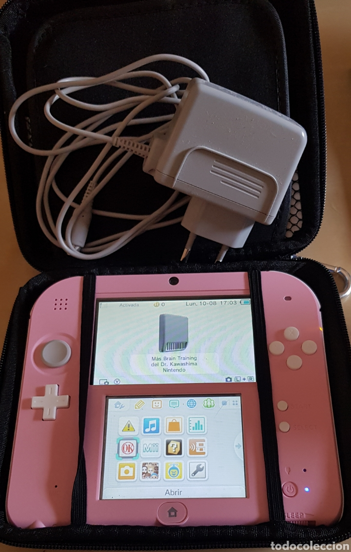 Videojuegos y Consolas Nintendo 2DS: NINTENDO 2 DS ROSA, CON JUEGO INSTALADO. PERFECTO FUNCIONAMIENTO. ACCESORIOS, MALETÍN, CARGADOR... - Foto 2 - 214115821