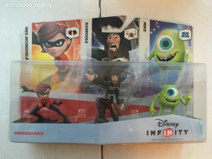 SIDEKICKS PACK DISNEY INFINITY 1 MRS INCREDIBLE BARBOSSA MIKE PACK NUEVO KREATEN (Juguetes - Videojuegos y Consolas - Nintendo - 2DS)