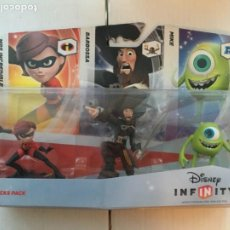 Videojuegos y Consolas Nintendo 2DS: SIDEKICKS PACK DISNEY INFINITY 1 MRS INCREDIBLE BARBOSSA MIKE PACK NUEVO KREATEN. Lote 216391138