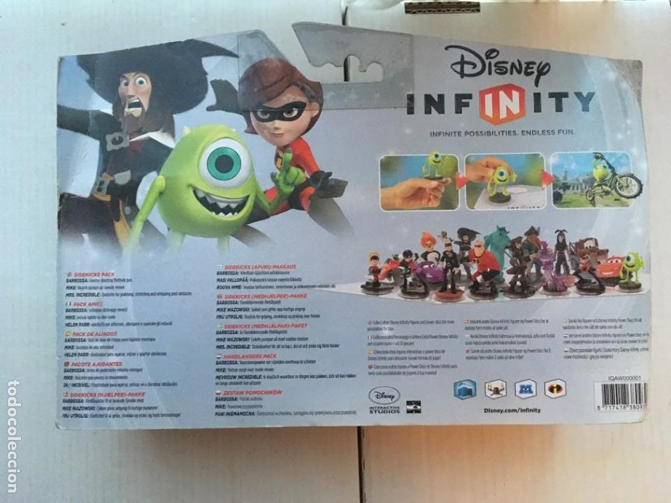 Videojuegos y Consolas Nintendo 2DS: SIDEKICKS PACK DISNEY INFINITY 1 MRS INCREDIBLE BARBOSSA MIKE PACK NUEVO KREATEN - Foto 2 - 216391138
