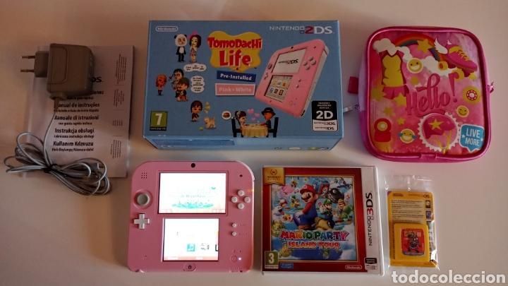 Videojuegos y Consolas Nintendo 2DS: Nintendo 2DS Rosa + Funda y Juegos - Foto 2 - 221710600