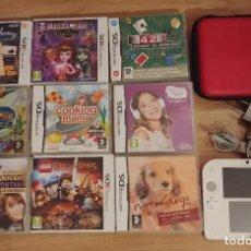 Videojuegos y Consolas Nintendo 2DS: PACK LOTE CONSOLA 2DS FUNDA CARGADOR Y 9 JUEGOS NINTENDO 2DS 3DS. Lote 222612630