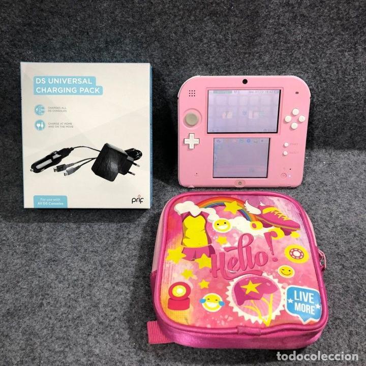 CONSOLA NINTENDO 2DS ROSA+FUNDA+CARGADOR 3DS (Juguetes - Videojuegos y Consolas - Nintendo - 2DS)