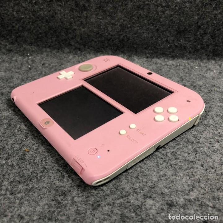 Videojuegos y Consolas Nintendo 2DS: CONSOLA NINTENDO 2DS ROSA+FUNDA+CARGADOR 3DS - Foto 3 - 224816335