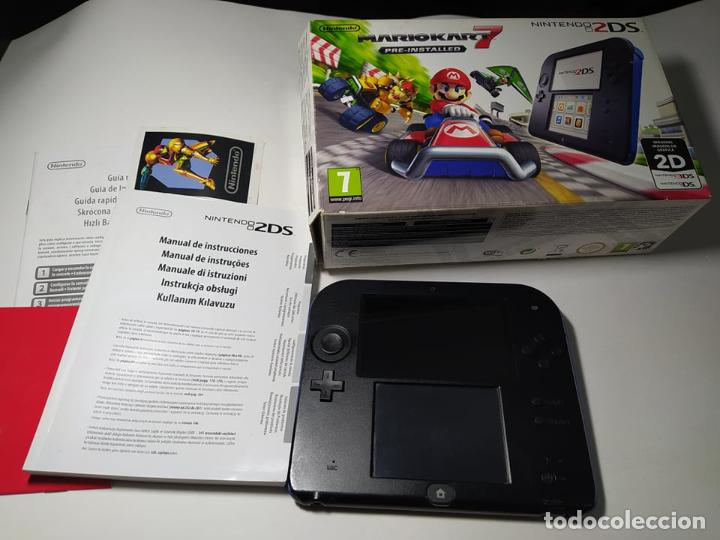 Videojuegos y Consolas Nintendo 2DS: Consola Nintendo 2DS + Mario Kart 7 ( sin cargador) - Envio certificado 4 euros ! - Foto 5 - 254750210