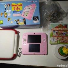 Videojuegos y Consolas Nintendo 2DS: CONSOLA NINTENDO 2DS ( EDICION TOMODACHI LIFE ) + HAPPY HOME DESIGNER + PLATAFORMA Y CARGADOR. Lote 258926775