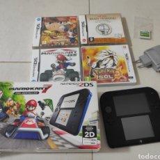 Videojuegos y Consolas Nintendo 2DS: LOTE VIDEOCONSOLA PORTÁTIL 2DS, EDICIÓN MARIO KART 7 Y JUEGOS.. Lote 270625048