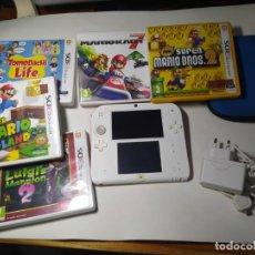 Videojuegos y Consolas Nintendo 2DS: CONSOLA NINTENDO 2DS + 5 JUEGOS - FUNDA CARGADOR Y TARJETA DE MEMORIA. Lote 274633003