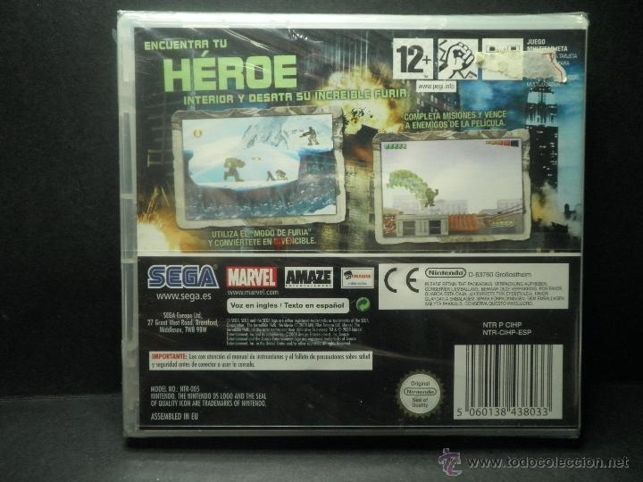 Videojuegos y Consolas Nintendo 3DS XL: DS EL INCREIBLE HULK - PRECINTADO - NUEVO ( DSI - LITE - DSI - 3DS - XL ) - Foto 2 - 39685829