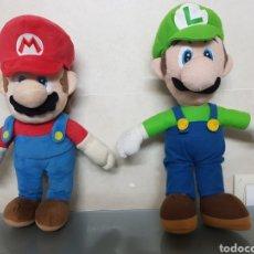 Videojuegos y Consolas Nintendo 3DS XL: 2X PELUCHE LUIGI Y SUPERMARIO BROS NINTENDO OFICIAL 38CM. Lote 126599922