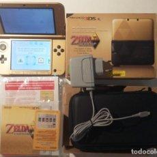 Videojuegos y Consolas Nintendo 3DS XL: NINTENDO 3DS XL ZELDA COMPLETA CON EL JUEGO ZELDA PARA DESCARGAR MUY BUEN ESTADO. Lote 153137818