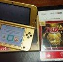 Videojuegos y Consolas Nintendo 3DS XL: NINTENDO 3DS XL ZELDA COMPLETA CON EL JUEGO FISICO ZELDA PRECINTADO.. Lote 153560410